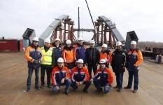 Успешная стыковка двух частей крупнейшего моста в Центральной Азии в Павлодарской области