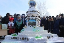70-килограммовый торт испекла жительница Павлодарского на Масленицу
