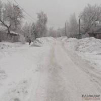 Вывозить снег с территории частного сектора на втором Павлодаре будут до 5 марта