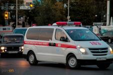 В Павлодаре машина скорой помощи попала в ДТП