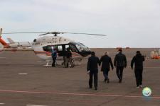 Аким Павлодара с вертолета осмотрел пойму Иртыша