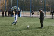 В Павлодаре открыта очередная мини-футбольная площадка