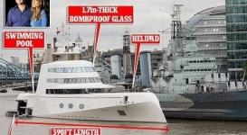 Яхта российского миллиардера поразила жителей Лондона