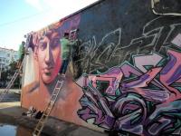 Новой работой порадовали павлодарцев местные мастера граффити