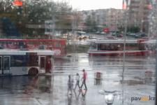 Дожди и сильный ветер ожидаются в Павлодаре в выходные