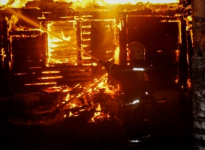 В селе Красноармейка пенсионерка получила при пожаре сильные ожоги