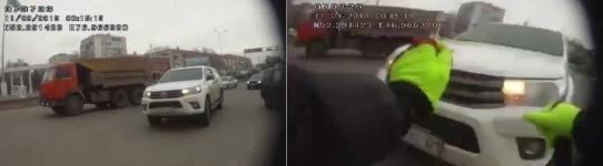 В Павлодаре внедорожник сбил полицейского