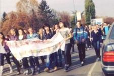 Лишенные каникул школьники перекрыли улицы Ужгорода