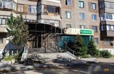В Павлодаре ночью сгорело крыльцо салона красоты