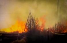 В Павлодаре во время пожара сгорело около 50 дачных домиков