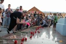 В Павлодаре прошла акция в День памяти и скорби