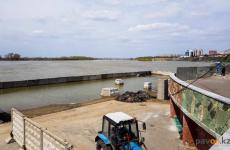 На этой неделе начнется монтаж главной сцены на берегу Иртыша