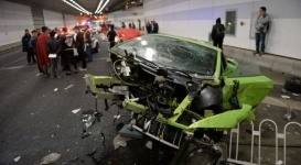 Lamborghini и Ferrari разбились в ДТП в Китае