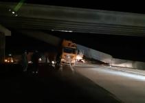 Водителя, частично разрушившего мост, оштрафовали на 50,5 тысячи тенге