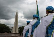 В Павлодаре прошел смотр-конкурс «Равнение на флаг»