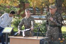 Военной кафедрой под открытым небом стала на время территория ПГУ