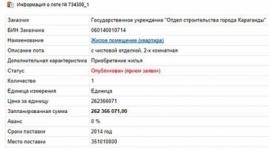 Квартиру за 262 миллиона тенге покупает акимат Караганды