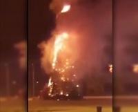 В Экибастузе сгорела главная новогодняя елка