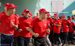 Легкоатлетический пробег приуроченный к Дню Победы стартовал в Павлодаре
