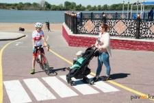 Новую разметку для велосипедистов нанесли на павлодарской набережной