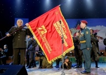 В апреле в Павлодар прибудет копия Боевого знамени ВОВ