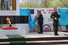 В селе Новочерноярка после капитальной реконструкции представлен обелиск Славы
