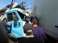 Авария двух грузовиков произошла в Павлодаре
