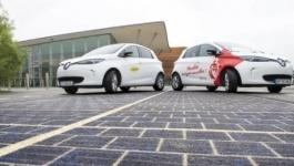 Во Франции открыли первую дорогу из солнечных батарей
