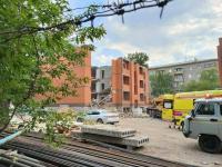 Обрушилась часть строящегося дома в Павлодаре