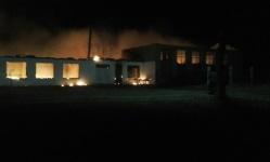Загорелась школа