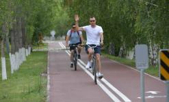 Астана получила 11 км велодорожки в подарок от Павлодарской области