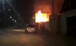 Сауна сгорела в Павлодаре