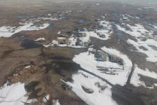 Паводкоопасные места Актогайского района осмотрели с вертолета