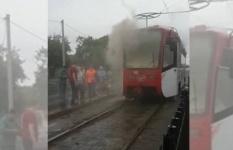 Возгорание трамвая произошло в Павлодаре