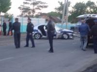 Авария с участием полицейской машины в Павлодаре