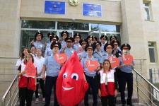 В преддверии Дня столицы павлодарские полицейские сдали кровь и денежные компенсации за донорство