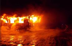 В Павлодаре в районе УПНК произошел пожар