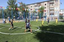 В Павлодаре открылись две новые футбольные площадки