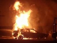 В Рождество в Прииртышье сгорели две автомашины