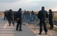 Мигранты пытались прорваться через сербско-хорватскую границу