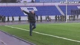 Главный тренер «Иртыша» станцевал лезгинку после выхода команды в Лигу Европы