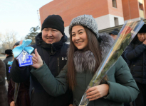 Студенческое общежитие и многоэтажный дом открыли накануне Дня Первого Президента в Павлодаре
