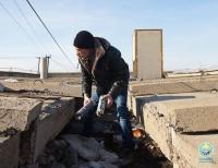 В Павлодаре полным ходом идет очистка крыш и ливневой канализации многоэтажек