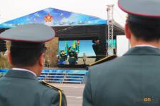 Павлодарский гарнизонполучил боевое знамя от Главы государства