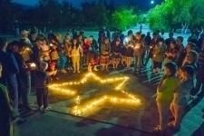 В память о скорбной дате 22 июня в Аксу зажгли «Свечу памяти»