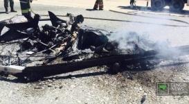 Двухместный вертолет разбился под Талдыкорганом