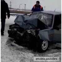 Семь человек госпитализированы в результате лобового столкновения на трассе Экибастуз-Майкаин