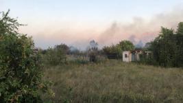 Крупный пожар произошел в павлодарском садоводстве «Надежда»