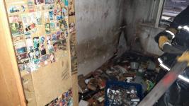 Павлодарец пострадал при пожаре в своей квартире