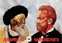 В интернете появился постер с Чайковским и Жамбылом